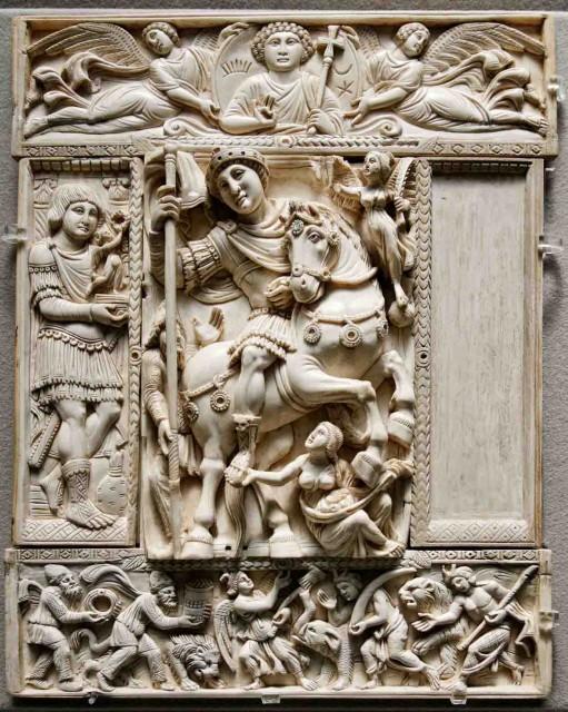Marfil Barberini - Representación del emperador Justiniano