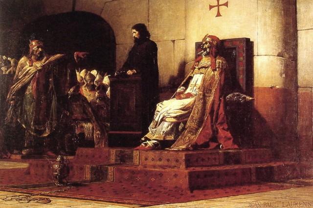 Le Pape Formose et Etienne VII - Jean-Paul Laurens, 1870