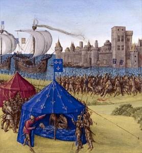 En 1270, se optó, para transportar el cadáver de Luis IX de Francia por el mos teutonicus.