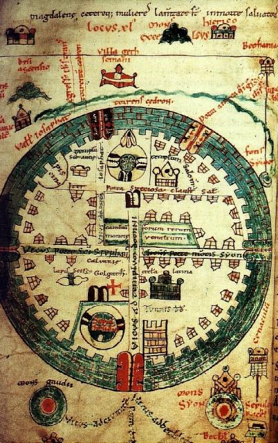 Mapa Jerusalén - Siglo XII