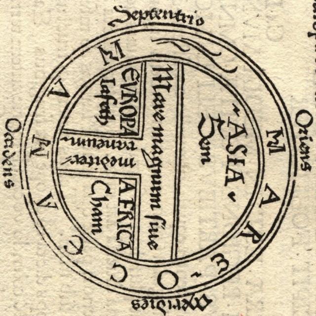 Mapa O-T Girado - Orbis Terrarum - Cartografía medieval