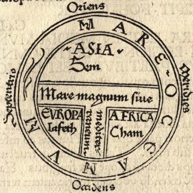 Mapa O-T - Orbis Terrarum  - Cartografía medieval