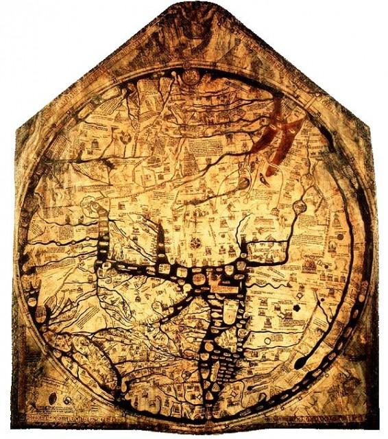 Mapamundi de Hereford - OT - Mapa de T en O - 1300 - cartografía medieval