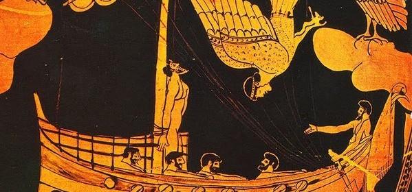 Figuras negras - Odiseo y las sirenas